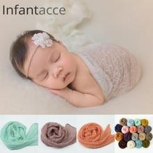 40 * 150 cm Newborn mohair wrap Acryl dehnbaren wrap baby schal neugeborenen foto requisiten decke fotografie requisiten