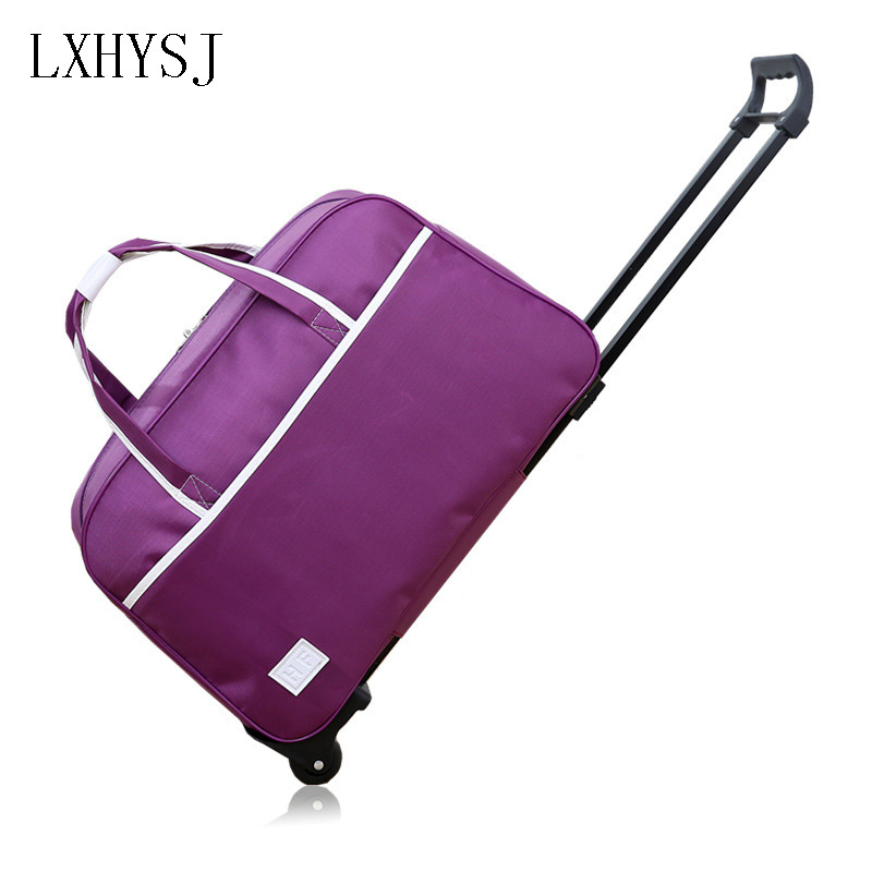 LXHYSJ Fashion waterproof Luggage Bag Thick Style Rolling Trolley Luggage Women&Men Travel Bags Suitcase With Wheel