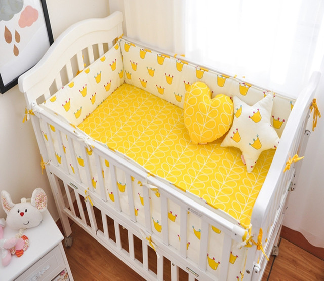 4Pcs/Sets Baby Bumper Sets Neonatal Cotton Printing Baby Bumpers Bed Around Comfort Suite Custom Made Boy Girl Bedding