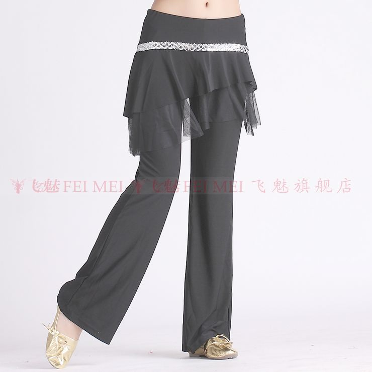 New Belly Dance Costumes Senior Sexy Crystal Cotton 06# Silver Belt Belly Dance  Pants For Women Belly Dance  Trousers