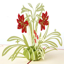 купить Daffodil Flower 3D Pop UP Paper Kraft Greeting Card Birthday Mother's Day Blessing Gift Cards Postcards 3pcs/lot дешево