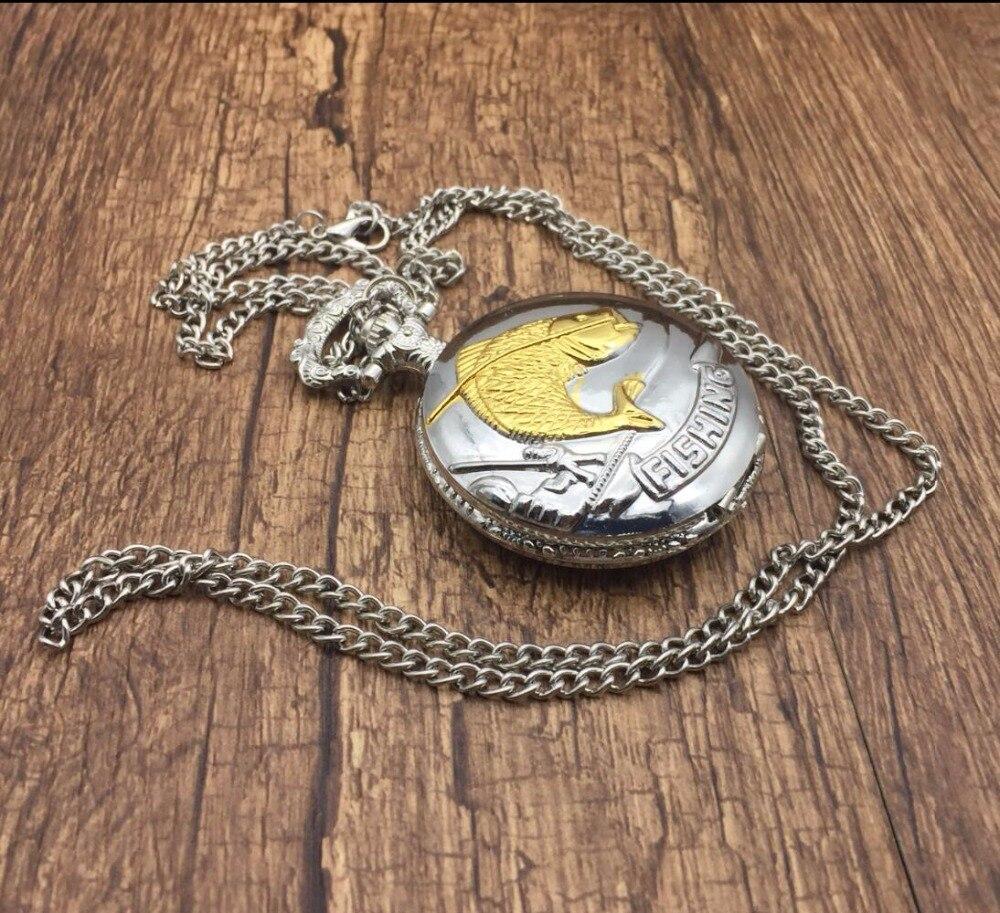 Silver-Gold-Fish-Quartz-Pocket-Watch-Necklace-Pendant-Women-Men-s-Gifts-Xmas-TD2034 (1)