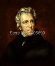 TOP art work -Christmas present # USA America President  Andrew Jackson  -24″ inch -handpaint oil painting on canvas
