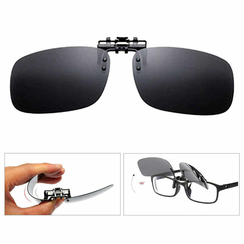 1d0e5847269 Detail Feedback Questions about New Clip On Eye Glasses Night Vision Polarized  Lens Driving Sunglasses Flip Up Anti UV Glare Sunglasses for Myopic Lens ...