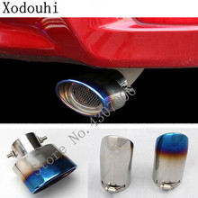 car muffler exterior end pipe outlet dedicate stainless steel exhaust tip tail outlet For Toyota Corolla Altis 2017 2018 2019 for toyota corolla altis led tail light 2011 2012 year smoke black color yzv2