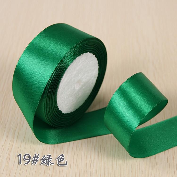 6 мм 1 см 1,5 см 2 см 2,5 см 4 5 см атласными лентами DIY искусственный шелк розы Ремесла поставок швейной фурнитуры Скрапбукинг материал - Цвет: Зеленый