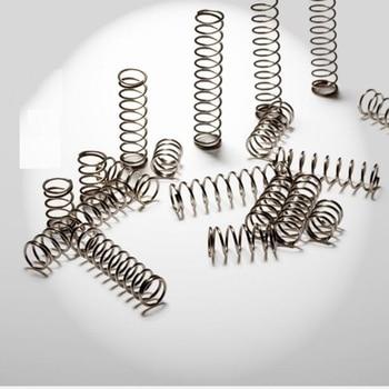 Dia 0.6mm D 4mm L 10-30mm 10 sztuk ze stali nierdzewnej kompresja wiosna nieagresywnych napięcie sprężyny powierzchni sprężyny rozciągane