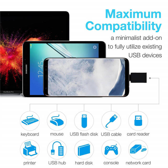 2 In 1 Type C To USB OTG Adapter Type-C To Micro USB Converter for Samsung  Galaxy S8 S9 Plus Note 8 Asus Zenfone 5z 5 Accesorios