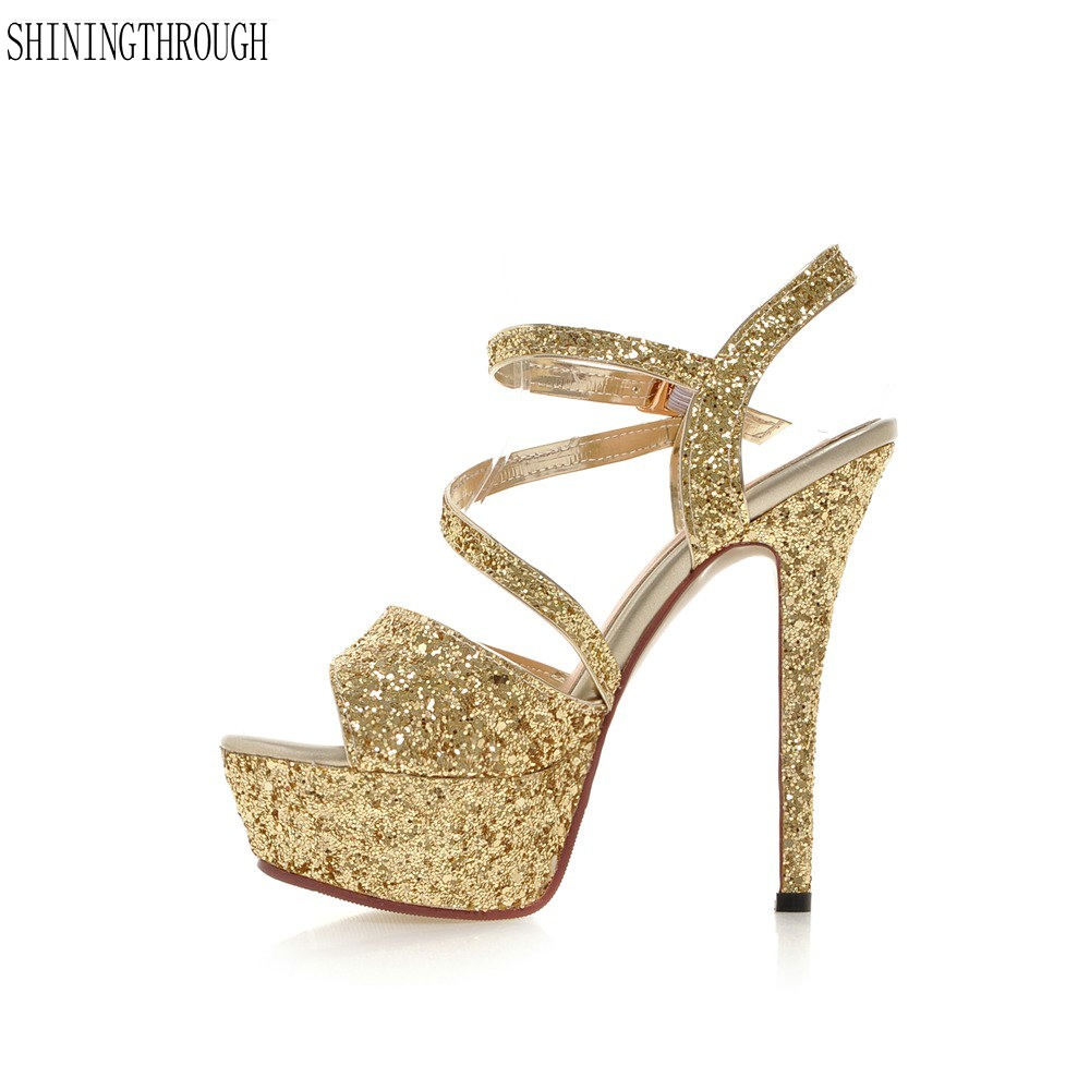 Fashion Summer Women High Heels Sandals 14cm Sexy Stripper Shoes Party Pumps Shoes Women Gladiator Platform Sandals стоимость