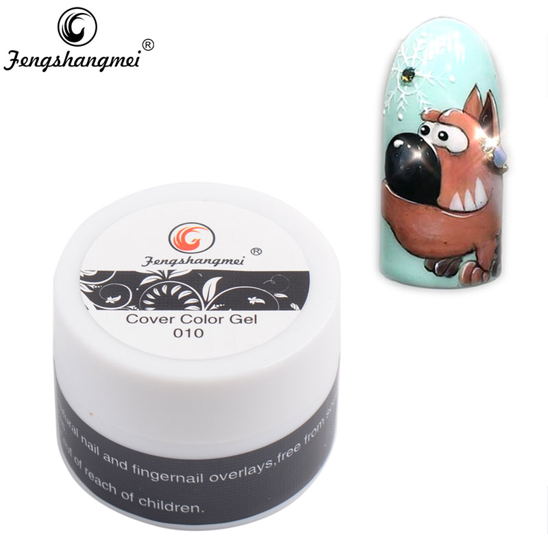 Fengshangmei 8g festő gél szín Easy Soak Off Arts Nails Design Cover Gel Rajz 3D szobor gél lakk