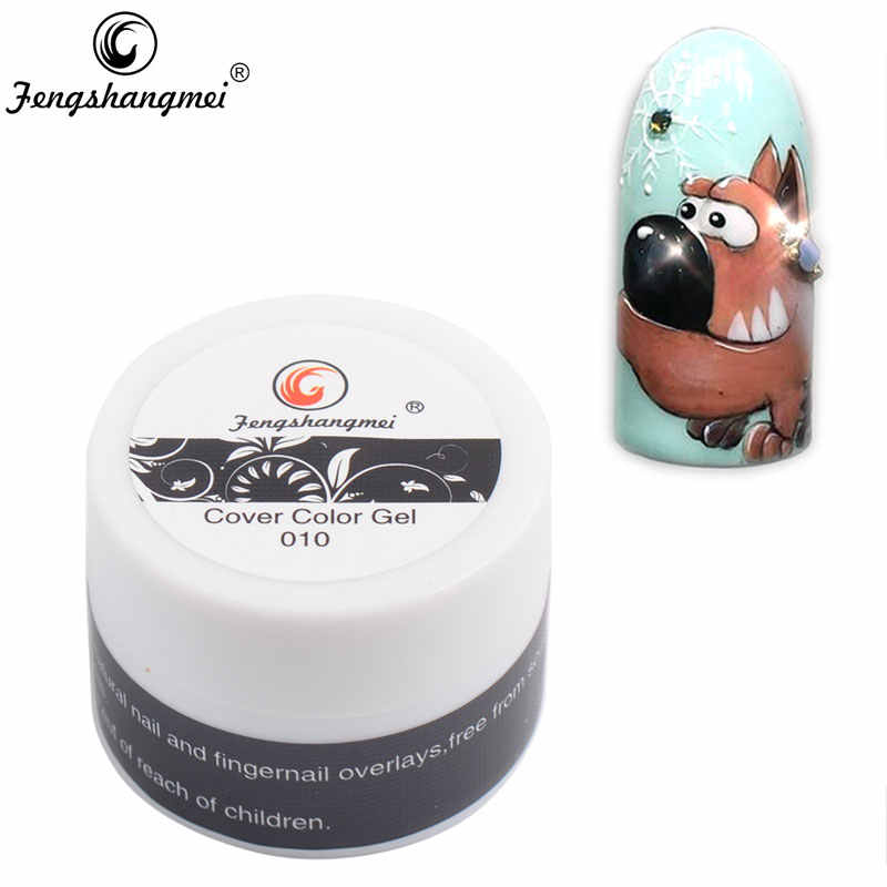 Fengshangmei 8g Painting Gel Color Easy Soak Off Arts Nails Design Cover Gel Drawing 3d Sculpture Gel Varnish