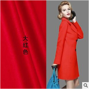 Large red cashmere fabric winter coat wool fabric thick coat cashmere wool fabric wholesale cashmere cloth