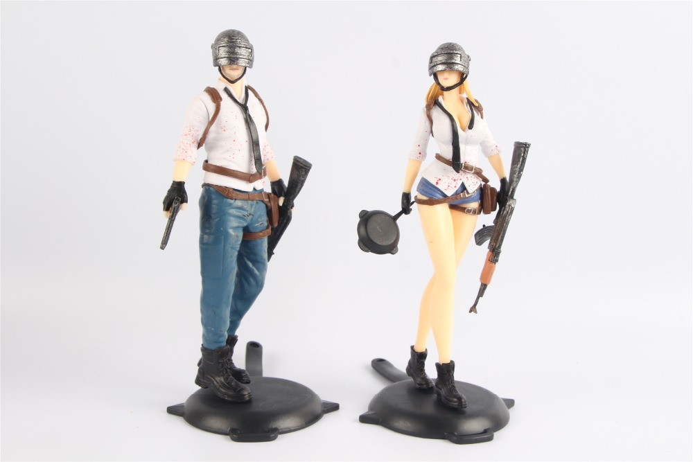 Player unknowns Battlegrounds PUBG Character Male and Female Action Figure Collection Toys for Gift