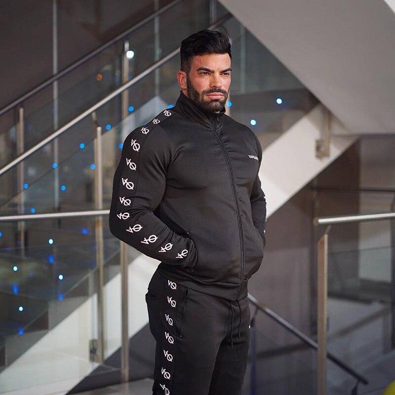 fashion men set fitness hoodies-9