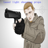 laser shooting electronicshooting laser target open lock props Takagism game real life escape room tools