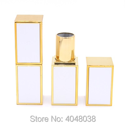 Empty Lip Balm Tube Square Lipstick Tubes 12.1mm White Black Pink Plastic Cosmetic Packaging Lip Stick Containers (2)