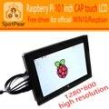 Raspberry pi 10.1 дюймов Емкостный HDMI VGA ЖК-драйвер Бесплатно для ПЭ3/PI2 1280x800 IPS