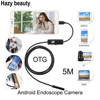 Hazy Beauty 5 5mm Len 5M Android USB Endoscope Camera Flexible Snake USB Pipe Inspection