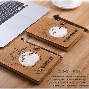 Блокнот и ручка Тоторо деревянный 1