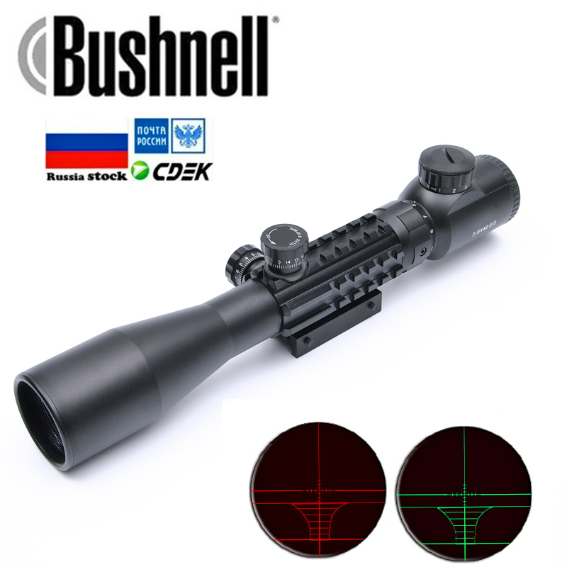 Bushnell 3-9x40EG Optic Hunting Riflescope With Red/Green Illuminated For Air Rifle Optics Hunting Sniper Scopes Sight w/Pair 21Bushnell 3-9x40EG Optic Hunting Riflescope With Red/Green Illuminated For Air Rifle Optics Hunting Sniper Scopes Sight w/Pair 21