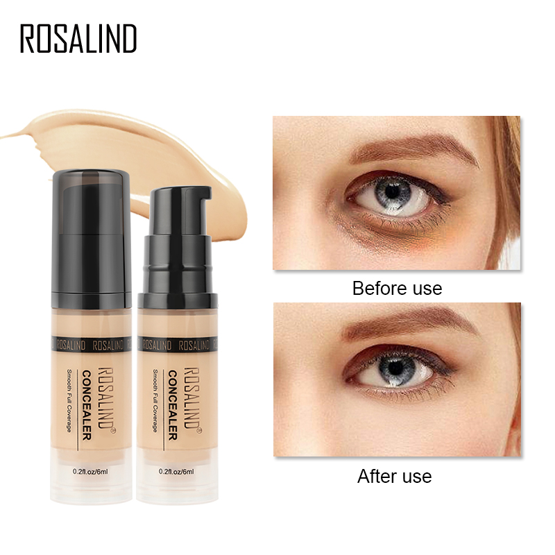 ROSALIND Concealer Corrector 6ml 6 Colors Full Coverage Long Wearing Cosmetics For Face Contouring Makeup Facial Corrector image