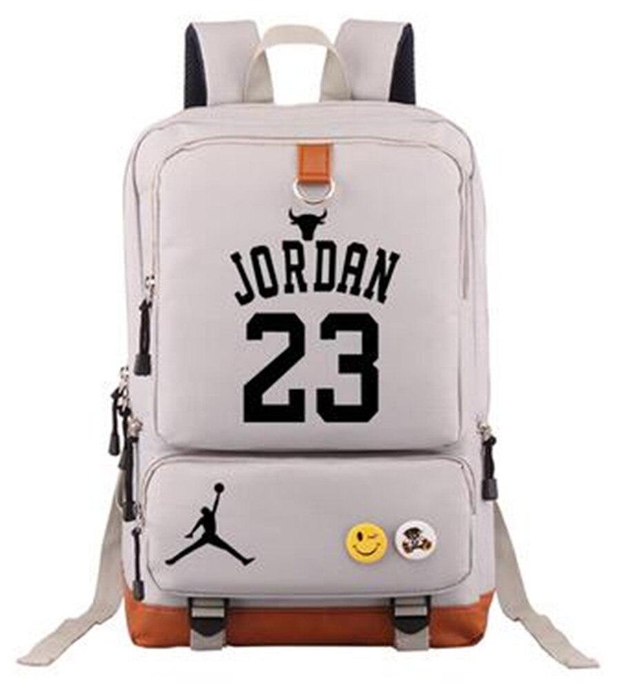 Basketball Player Jordan Curry Duncan Tracy McGrady Durant Luminous Backpack Laptop Bag Rucksacks School Bag