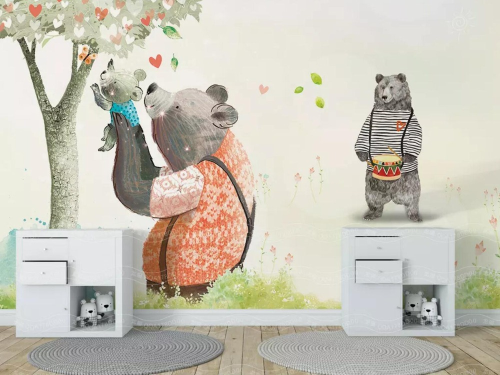 [Self-Adhesive] 3D The Happiness Of Three Bears 33 Wall Paper Mural Wall Print Decal Wall Murals