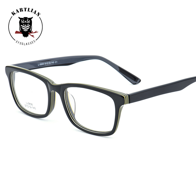 2a78a41ee4 Kartlian Acetate optical frame eyewear eyeglasses retro square men women  glasses prescription clear lenses