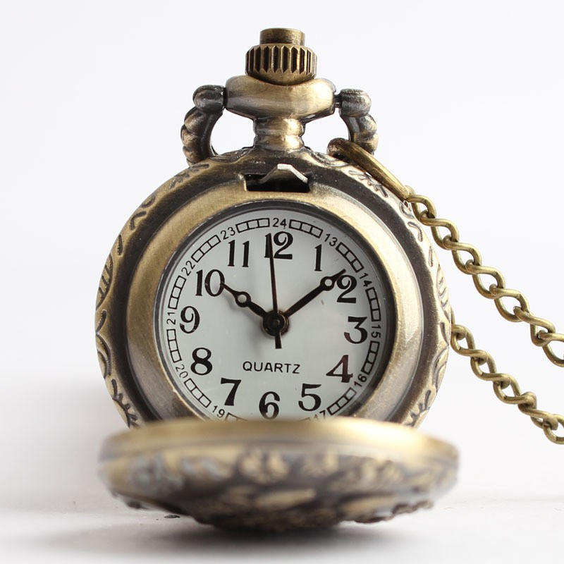 Antique Steampunk Lovely Cute Rat Mouse Small Style Quartz Pocket Watch of  Vintage Male Female Boys Girls Necklace Chain