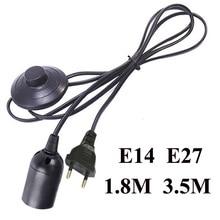 Кабель питания 3,5 м, Цоколь E27, штепсельная вилка европейского стандарта с переключателем, светодиодный подвесной светильник E14, держатель п...
