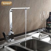 XOXO Бесплатная доставка хромированный смеситель для кухни латунь поворотные раковины кран 360 градусов вращающийся кухня смеситель 83029