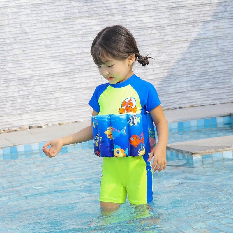 Дети спасательный жилет Детская Спасательная куртка для мальчиков и девочек детский солнцезащитный купальник с мультяшным рисунком