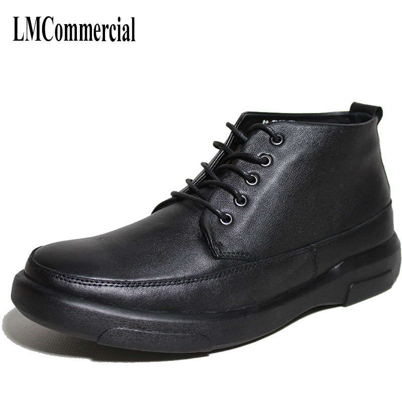 winter the elderly mens leisure shoes and leather shoes male cashmere warm cotton lace up boots men shoes cowhide winter boots warm winter high shoes male young men leisure shoes martin boots men cowhide cashmere zipper leather boots breathable
