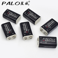 6Pcs Power Battery 6F22 9V Li ion 600mAh Rechargeable Battery for Instruments