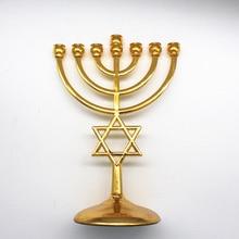 Religion Jerusalem Menorah With Star of David Messianic Menora of brass