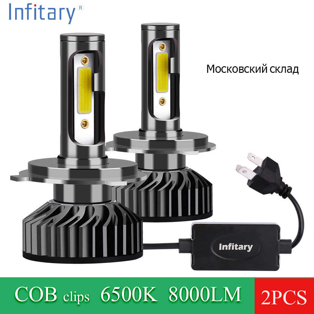 2 Pcs H4 H7 LED Car Lights 9005 H1 H3 HB1 HB3 9006 9007 880 Car Headlight Lamp Bulb Fog Light 24V 72W 8000LM 6500K COB Lights