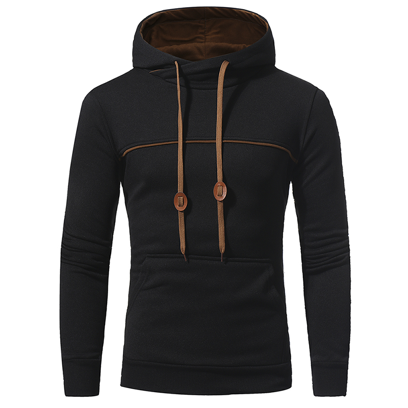 NEW 2017 Fashion Hip Hop Men Hoodies Brand Casual Men Hooded Casual Solid Color Hoodies Sweatshirt