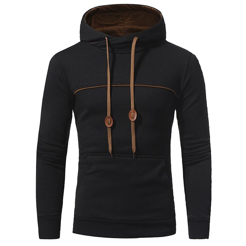 NEW 2017 Fashion Hip Hop Men Hoodies Brand Casual Men Hooded Casual Solid Color Sweatshirt Jaskets