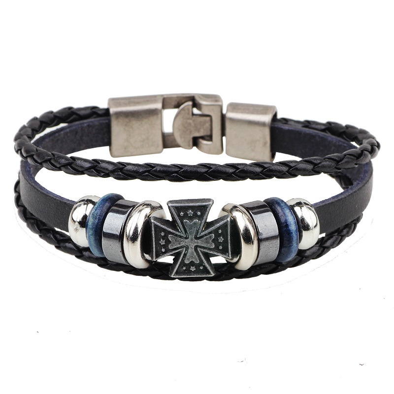 QN 2017 <font><b>Trade</b></font> Network Jewelry Directly For European <font><b>Religion</b></font> Ornaments Ancient Greek The Crusade Cross Bracelet Free Shipping