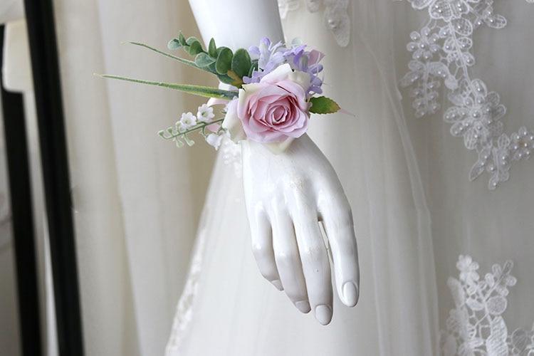 pink wrist corsage boutonniere wedding  (25)