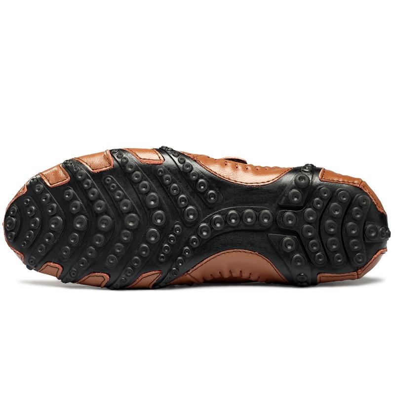 Moda británica de estilo genuino Causal zapatos de los hombres de - Zapatos de hombre - foto 5