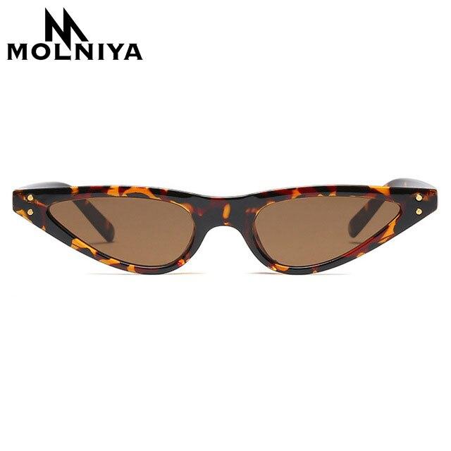 c0be7a926ed3 MOLNIYA Small Cat Eye Sunglasses Women Brand Designer Retro Black Sun  Glasses for Women Ladies Cateye UV400 Gafas De Sol