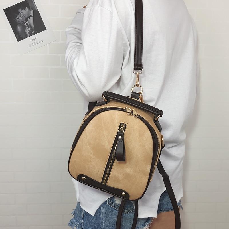 335dc2b84e 2018 New Cute Backpack Female Zipper Shoulder Bag Women Messenger Mini  Small Backpack College Wind PU Leather ...