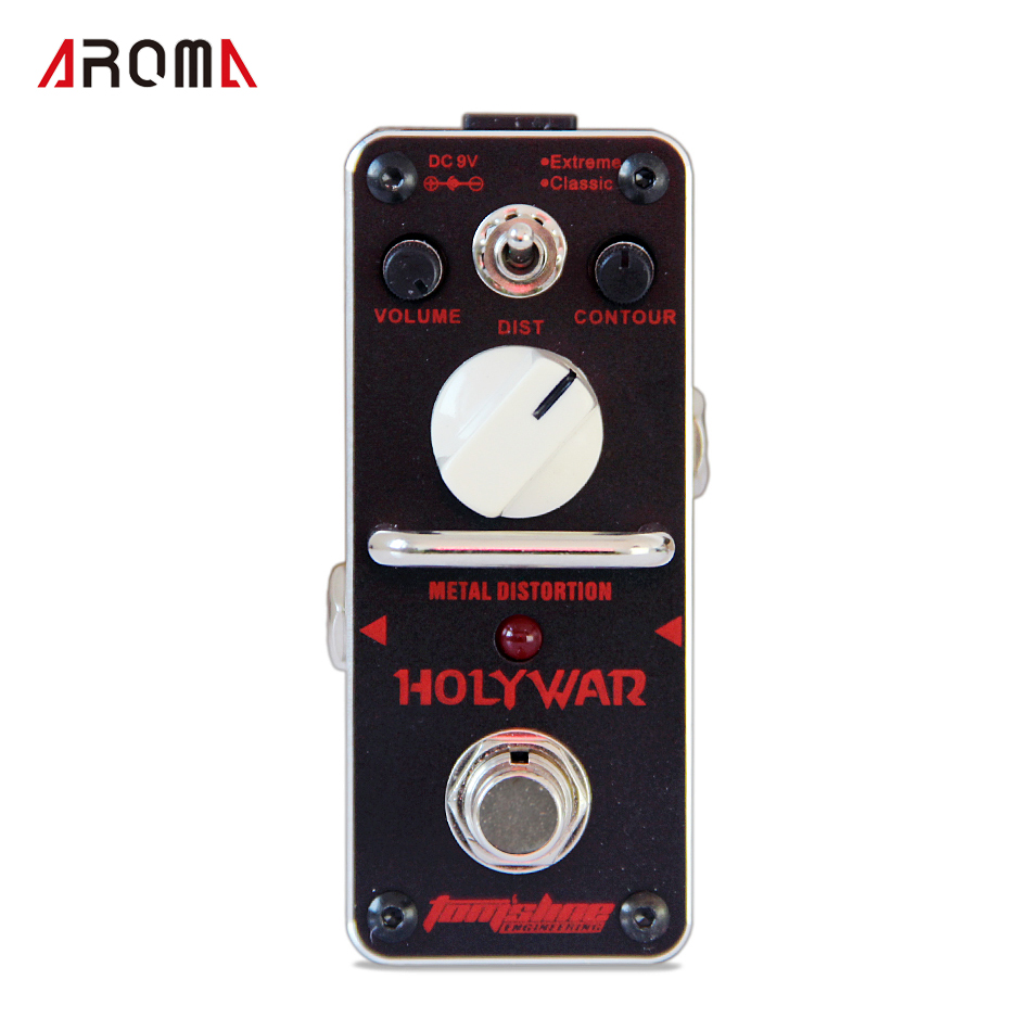 AROMA AHOR-3 HOLY WAR Guitar Pedal True Bypass Metal distortion Mini Analogue Effect Pedals for Guitar with Connector and Tuner mooer ensemble queen bass chorus effect pedal mini guitar effects true bypass with free connector and footswitch topper