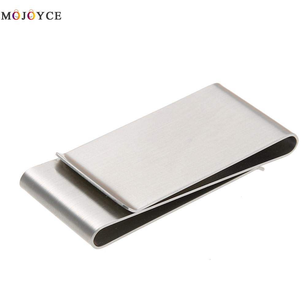 Stainless Steel Slim Double Sided Men Women Money Clip Wallet Metal Credit Card Money Holder Bill Steel Clip Clamp цена