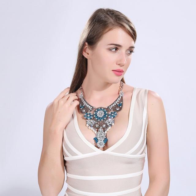 2016 nueva Reina de bronce Collar 40 + 7 cm Mujeres resina colores opción n214 shiping libre de la Marca de Joyería de Moda