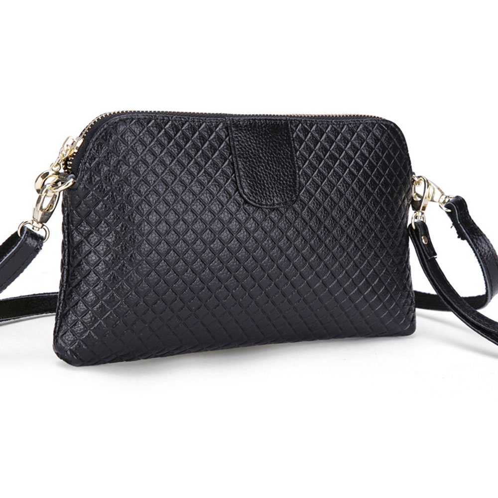 10 colors Genuine Leather Women Clutch Bags Cowhide Solid Bag Organizer Purse Party Handbags Ladies Shoulder Crossbody Bags