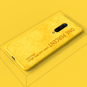 Girls Luxury Cute Colorful Back Cover For Oneplus 7 6 Plus 6T Cloth Texture Yellow Color Quotes Phone Case For Oneplus 7Pro(China)
