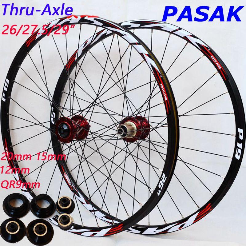 MTB Mountain Bike Wheels 26 27.5 29inch Bicycle wheels big hub 6 claws DH AM wheel 15mm 20MM 12MM 9MM Thru-axle wheelset Rim