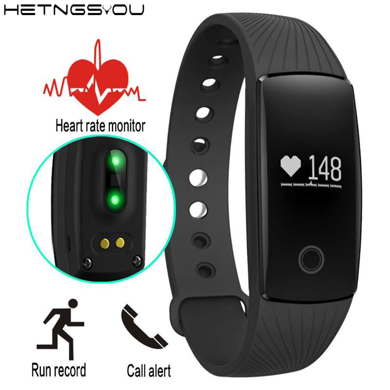 HETNGSYOU Bluetooth Smart Wristband Heart Rate Monitor Watch Band Pedometer Sleep Fitness Tracker Sport HR Bracelet PK mi band 2 sports fitness tracker smart watch bracelet i7 bluetooth 4 0 wristband waterproof health heart rate monitor